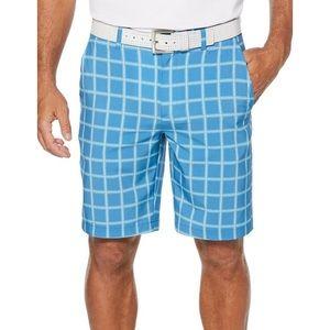 PGA TOUR Mens Heather Grid Flat Front Shorts 36